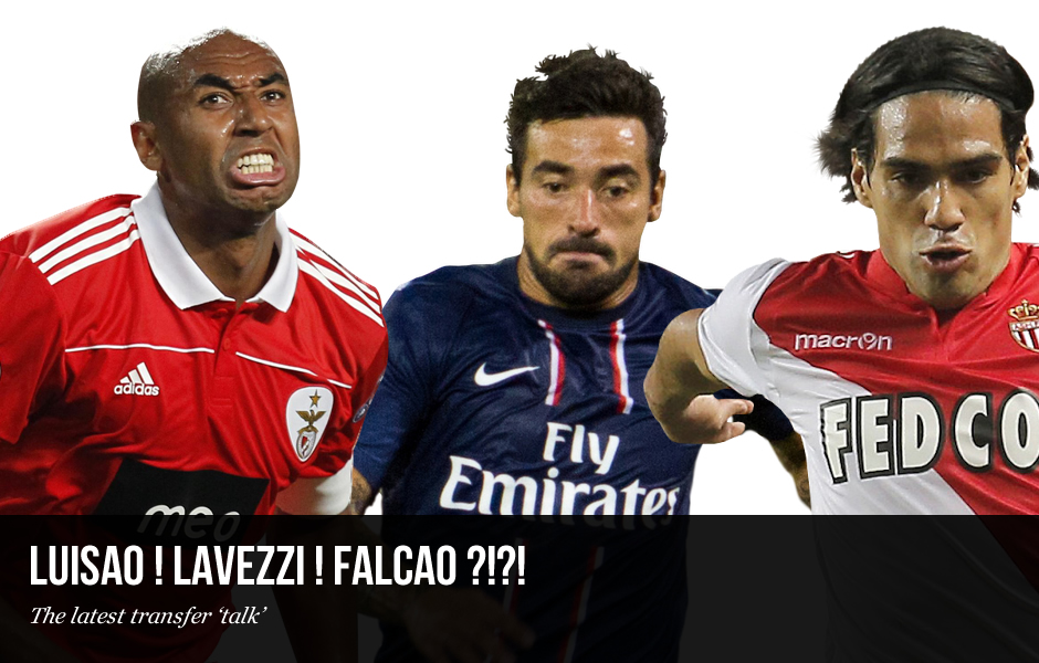 Transfer Talk: Luisao, Lavezzi and Falcao