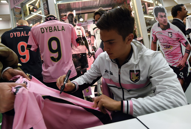 US Citta di Palermo Player Paulo Dybala Visit Conca D'Oro Shopping Center