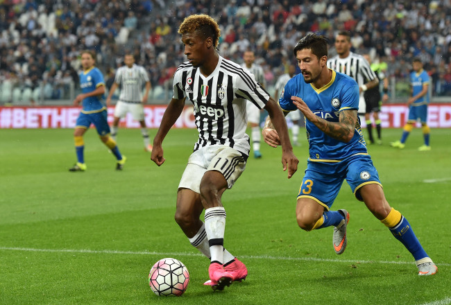 during the Serie A match between Juventus FC and Udinese Calcio at Juventus Arena on August 23, 2015 in Turin, Italy.