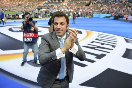 Former Juventus player Alessandro del Piero arrives at the stadium prior to the UEFA Champions League Final football match between Juventus and FC Barcelona at the Olympic Stadium in Berlin on June 6, 2015.     AFP PHOTO / OLIVIER MORIN        (Photo credit should read OLIVIER MORIN/AFP/Getty Images)