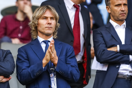 PRAGUE, CZECH REPUBLIC - JUNE 17: Team manager of Juventus Turin Pavel Nedved attends UEFA U21 European Championship Group A match between Czech Republic and Denmark at Eden Stadium on June 17, 2015 in Prague, Czech Republic.  (Photo by Matej Divizna/Getty Images)