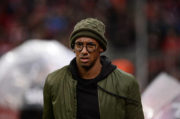 Bayern Munich's defender Jerome Boateng arrives to watch the German first division Bundesliga football match of FC Bayern Munich vs TSG 1899 Hoffenheim in Munich, southern Germany, on January 31, 2016.  / AFP / LUKAS BARTH / RESTRICTIONS: DURING MATCH TIME: DFL RULES TO LIMIT THE ONLINE USAGE TO 15 PICTURES PER MATCH AND FORBID IMAGE SEQUENCES TO SIMULATE VIDEO. == RESTRICTED TO EDITORIAL USE == FOR FURTHER QUERIES PLEASE CONTACT DFL DIRECTLY AT + 49 69 650050         (Photo credit should read LUKAS BARTH/AFP/Getty Images)