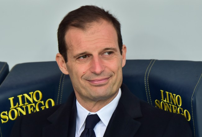 Juventus' coach from Italy Massimiliano Allegri looks on before the Serie A football match between Chievo Verona and Juventus at Bentegodi Stadium in Verona on January 31, 2016. / AFP / GIUSEPPE CACACE        (Photo credit should read GIUSEPPE CACACE/AFP/Getty Images)