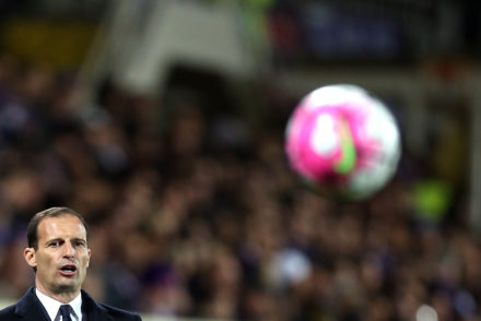 FLORENCE, ITALY - APRIL 24: Massimiliano Allegri manager of Juventus FC reacts during the Serie A match between ACF Fiorentina and Juventus FC at Stadio Artemio Franchi on April 24, 2016 in Florence, Italy.  (Photo by Gabriele Maltinti/Getty Images)