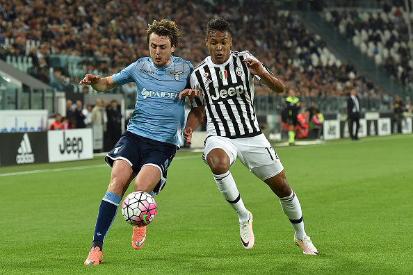 during the Serie A match between Juventus FC and SS Lazio at Juventus Arena on April 20, 2016 in Turin, Italy.