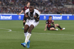 Juventus' midfielder from France Paul Pogba reacts during the Italian Tim Cup final football match AC Milan vs Juventus on May 21, 2016 at the Olympic Stadium in Rome. AFP PHOTO / TIZIANA FABI / AFP / TIZIANA FABI (Photo credit should read TIZIANA FABI/AFP/Getty Images)