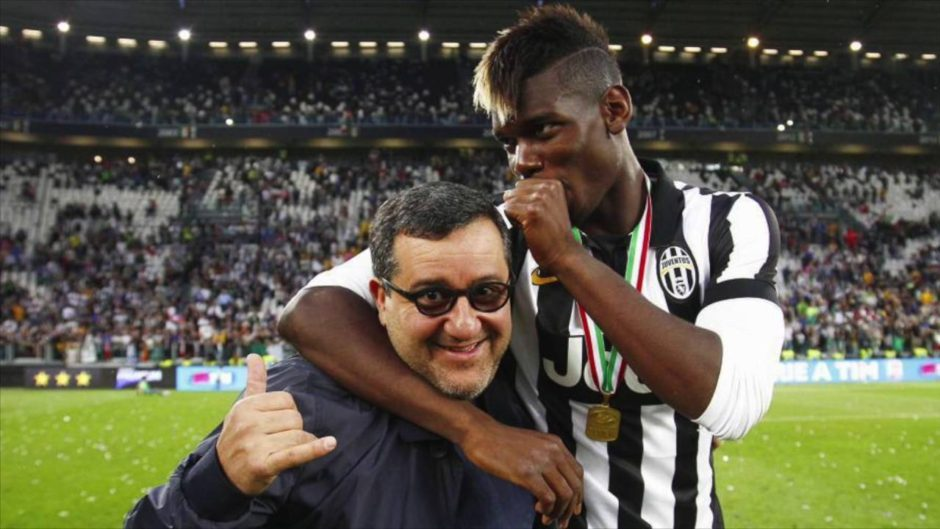 Mino Raiola flies out for Pogba